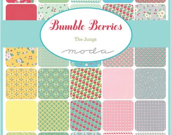 """Moda BUMBLE BERRIES Precut 5"""" Charm Pack Fabric Quilting Cotton Squares The Jungs 25090PP"""