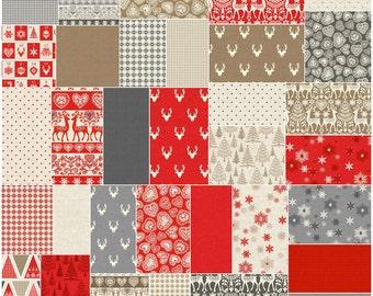 "SQ12 Andover SCANDI 3 Single Scoop Precut 5"" Charm Pack Fabric Quilting Cotton Squares"