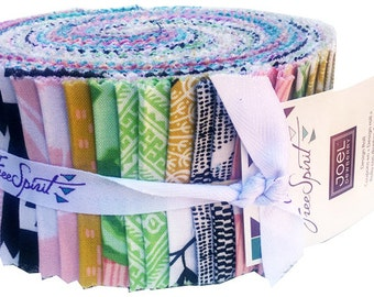 "Joel Dewberry CALI MOD Design Roll 2.5"" Precut Fabric Quilting Cotton Strips Free Spirit"