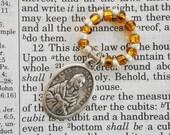 Rosary Ring - Catholic rosary beads Saint St. Kateri Tekakwitha beads Italy prayer Saint prayers