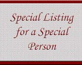 Special listing for Lisa