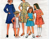 Vintage 70s Girls Size 10 Sewing Pattern Dress with Princess seaming Style 2193