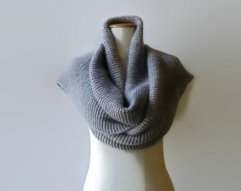 Gray Wool Shawl Scarf, Cute Long Winter Scarf, Huge Mens Scarf, Womens Scarves, Wide Extra Long Scarf, Wrap Scarf, Blanket Scarf, branda