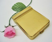Vintage EVANS Dual COMPACT & LIPSTICK-New Old Stock-Never Used-Complete-Perfect Condition