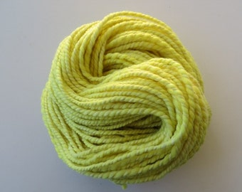 Hand Spun Yarn Natural dyed with Golden Rod Flowers Alpaca and Merino Yarn Bulky 2 ply 7.5 oz