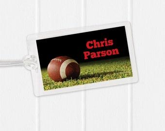Football Bag Tag - Sports Bag Tag - Diaper Bag Tag - Kids Bag Tag Luggage Tag -