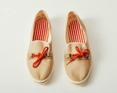 Vintage Deadstock Canvas Boat Shoes - US 6.5 / Europe 37 / UK 4 / AU 5