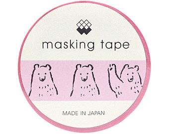 Relaxed Bear Masking Tape • Polar Bear Mind Wave Japanese Washi Tape (93022)