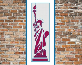Funky Lady Liberty - a Counted Cross Stitch Pattern