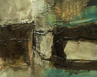 Oil Painting Abstract Original Panel Expressionism Colette Davis  CARIBBEAN ISLANDS