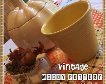 Vintage McCoy Buttery soft Yellow Flower Pot - A Nice Large Planter - Great Color!