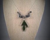 Silver Sassafras Necklace