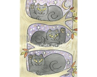 The Lucky Tree Trio - Choose from ACEO Print, Note Cards, or Art Print
