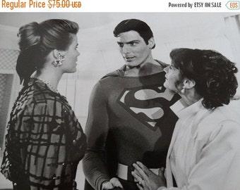 Sale 1987 Superman Press Photo, Lois Lane, Christopher Reeve, Margot Kidder, Mariel Hemingway, Superman IV,  Warner Bros. Presentation