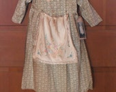 Primitive Pioneer Toddler Dress - Prairie Dress- grubby and grungy- Doll dress