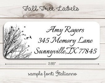Fall Tree Return Address Labels