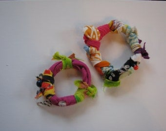 Mother and Daughter Topical Fun Cloth Bangles