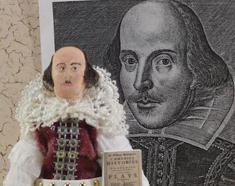 William Shakespeare Art Doll Miniature Classic Literature Author