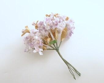 Vintage Flower Picks Lavender Corsage Wedding Bouquet Millinery