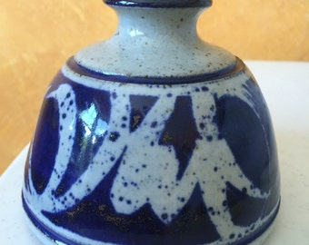 Cobalt Blue Ink Well clay Pottery