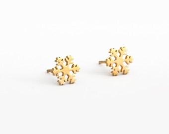 Snow Flower Stainless Steel Earring Post Finding (EE412B)