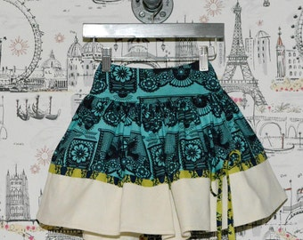 SAMPLE SALE - Gypsy Skirt in Wonderland - Size 3 - Our best selling skirt!
