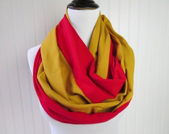 49ers Scarf - Football Scarf - Arizona Cardinals  - Gold & Red Infinity Scarf - San Francisco Scarf - Team Scarf