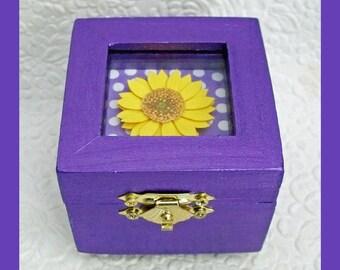 Glass Top Trinket Box, Jewelry Box, Ring Box, Jewelry Holder, Unique Gift, Jewelry Storage, Keepsake Gift Box,