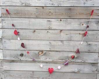 Wool + Cashmere Heart and Dot Garland, 1 each