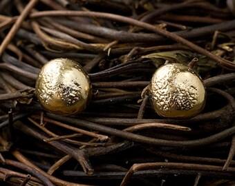 14k Pebble Studs | 14k Earrings