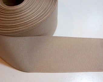 Beige Ribbon, Medium Oyster Grosgrain Ribbon 2 1/4 inches wide x 10 yards, Offray Oatmeal Ribbon, SECOND QUALITY FLAWED