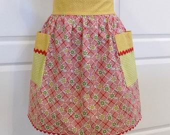 Womens Half Apron Cute Chic Kitchen Waist Aprons