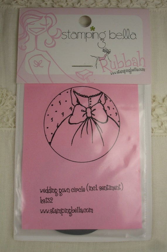 New wedding gown stamping bella rubber stamp unmounted for Wedding dress rubber stamp