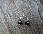Sterling Silver and Black Onyx with crystal earrings