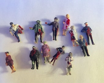 Itsy Bitsy Mystery Tin of Zombies HO Scale in Upcycled Mint Tin Choose Quantity