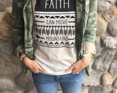 Faith can move mountains christian women's unisex triblend t-shirt