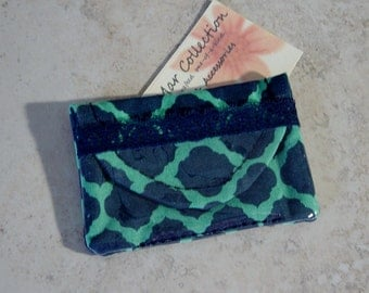 Business Card Case, Business Card Purse, Geometric Pattern Fabric Case, Business Card Wallet, Cloth Case, Credit Card Case, Small Purse