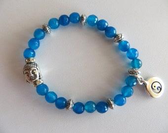 Apatite Energy Bracelet With Buddha Head-Sale Jewelry
