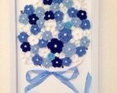 Crochet Flower / Crochet Bouquet  - Black Cat in Blue Bouquet