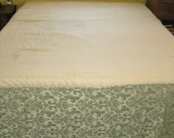 bedskirt . queen size bedskirt . queen size . brocade bedskirt . pleated corner . queen bedskirt . corner pleat bedskirt