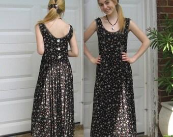 baby doll dress . hippie dress . little floral dress . 90s baby doll dress . Karen Kane . empire waist dress