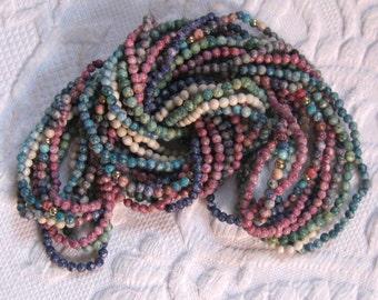 8 Strands of Semi Precious  Gems / 8 Strand Necklace