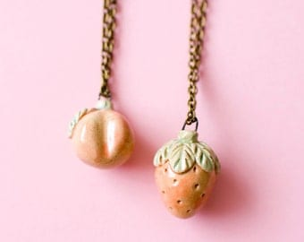 Ceramic Fruit Necklace