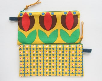 Scandinavian Floral Pouch - Case - Pencil Case