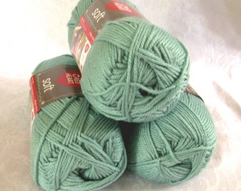Red Heart Soft  SEAFOAM yarn, medium worsted weight yarn, an aqua green shade