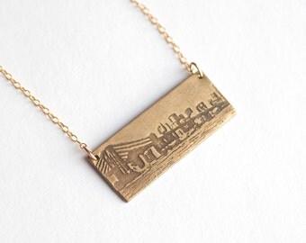 NYC Necklace - Brooklyn Bridge - New York Jewelry - NYC Necklace - Brooklyn Necklace - Brooklyn Souvenir - Skyline Necklace - City Jewelry
