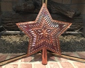 Star Tree Topper Large Copper 11 1/2 Inch Star In Star Hand Cut  Design By Larry West