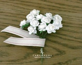 Wholesale 144 white miniature millinery paper flowers