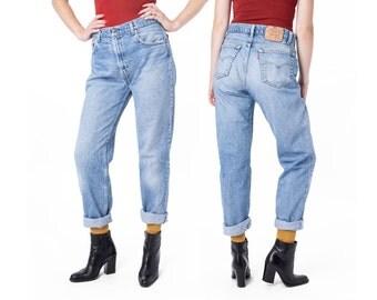 sale JEANS BOYFRIEND high waist Levi's vintage 505 faded 90s denim Size 10 / Size 12 / better Stay together