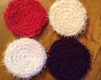 Crochet scrubbies set of 4 Double-sided